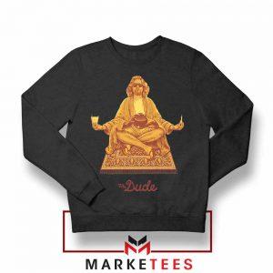 El Duderino Meditation Design Black Sweatshirt