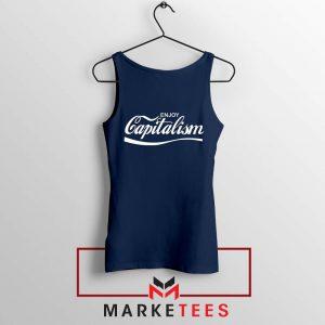 Enjoy Capitalism Political Navy Blue Tank Top
