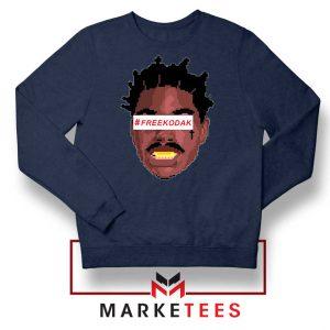 Free Kodak Black Navy Blue Sweatshirt