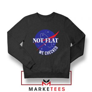 Funny NASA Not Flat Graphic Sweater