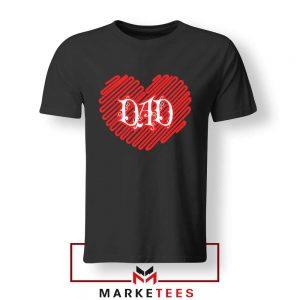 I Love Dad Graphic Black Tshirt