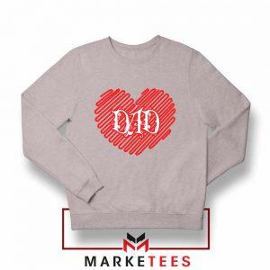 I Love Dad Graphic Sport Grey Sweatshirt
