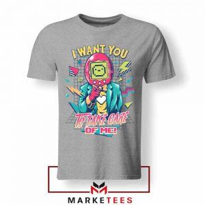 I Want You Tamagotchi Sport Grey Tshirt