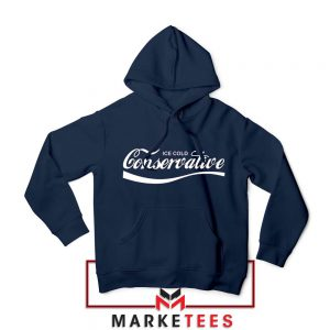 Ice Cold Conservative Funny Navy Blue Hoodie