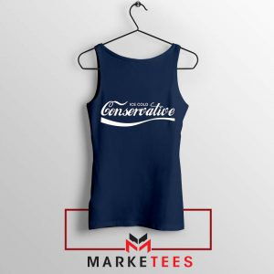 Ice Cold Conservative Funny Navy Blue Tank Top