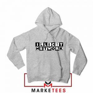 Illicit Network Graphic Sport Grey Hoodie