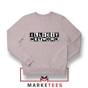 Illicit Network Graphic Sport Grey Sweatshirt