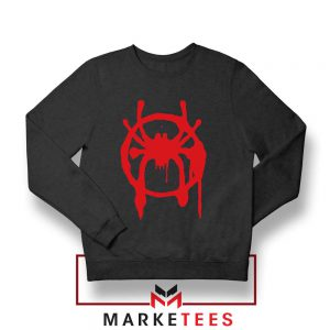 Into the Spider Miles Graphic Black Sweatshirt