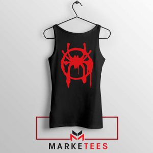 Into the Spider Miles Graphic Black Tank Top