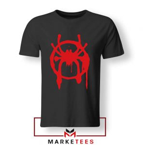 Into the Spider Miles Graphic Black Tshirt
