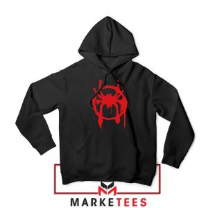 Into the Spider Miles Graphic Hoodie Black