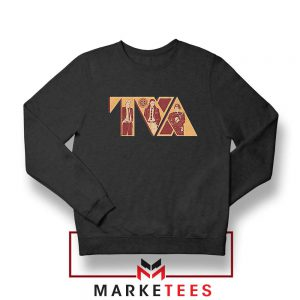 Loki TVA Time Variant Graphic Black Sweater