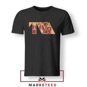 Loki TVA Time Variant Graphic Black Tshirt