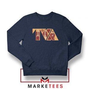 Loki TVA Time Variant Graphic Navy Blue Sweater