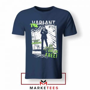 Loki TVA Timeline Marvel Design Navy Blue Tshirt