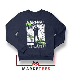 Loki TVA Timeline Marvel Navy Blue Sweatshirt