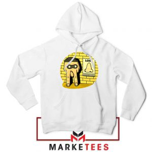 Lost Nose Dad Jokes Graphic White Hoodie