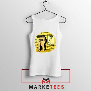 Lost Nose Dad Jokes Graphic White Tank Top