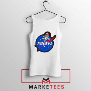 Mario Nasa Logo Graphic White Tank Top