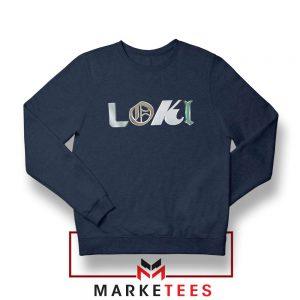 Marvel Loki Logo Best Graphic Navy Blue Sweatshirt