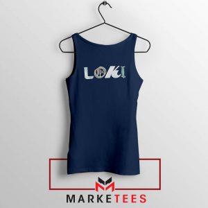 Marvel Loki Logo Best Graphic Navy Blue Tank Top