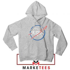 NASA Logo Designs Japanese Sport Grey Hoodie