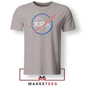 NASA Logo Designs Japanese Sport Grey Tshirt