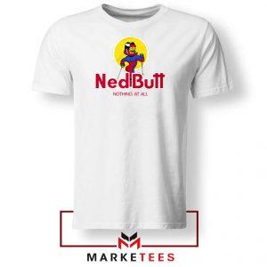 Ned Butt Simpson Parody White Tshirt