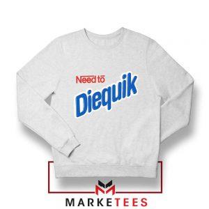 Need to Diequik Parody White Sweater