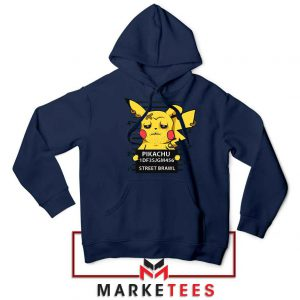 Pikachu Street Brawl Crime Navy Blue Hoodie