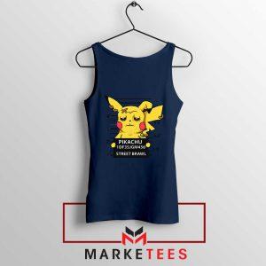 Pikachu Street Brawl Crime Navy Blue Tank Top
