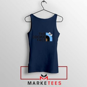 The Cookie Face Designs Navy Blue Tank Top