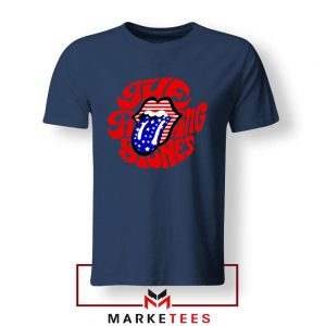 The Rolling Stones American Tongue Navy Blue Tee