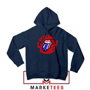 The Rolling Stones Flag Tongue Navy Hoodie
