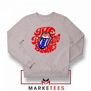 The Rolling Stones USA Tongue Grey Sweatshirt