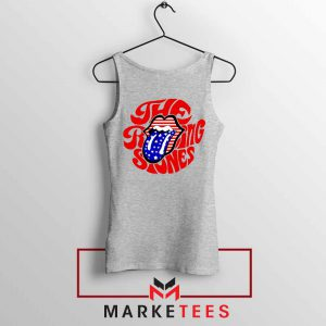 The Rolling Stones USA Tongue Sport Grey Tank Top