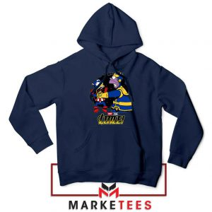 Why You Little Homer Thanos Navy Blue Hoodie