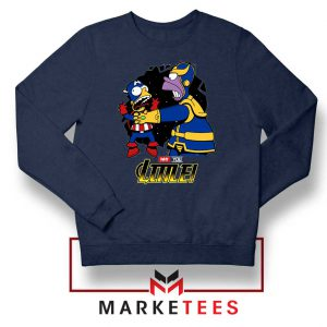 Why You Little Homer Thanos Navy Blue Sweater