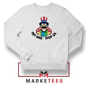 Uncle Sam Simpson Funny Sweatshirt