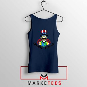 Uncle Sam Simpson Funny Navy Blue Tank Top