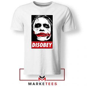 Chaos Disobey Joker Face White Tshirt