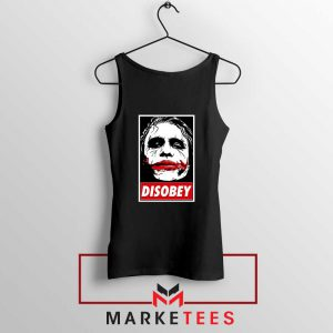 Chaos Disobey Joker Face White Tank Top