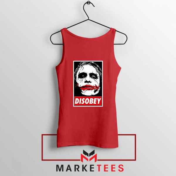 Chaos Disobey Joker Face White Red Tank Top