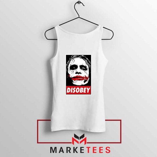 Chaos Disobey Joker Face White White Tank Top