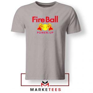 Mario Fire Ball Power Up Sport Grey Tshirt