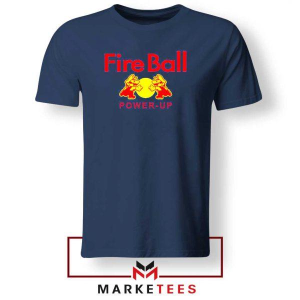 Mario Fire Ball Power Up Navy Blue Tshirt