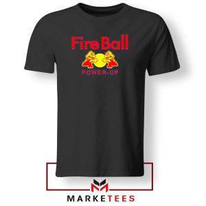 Mario Fire Ball Power Up Black Tshirt