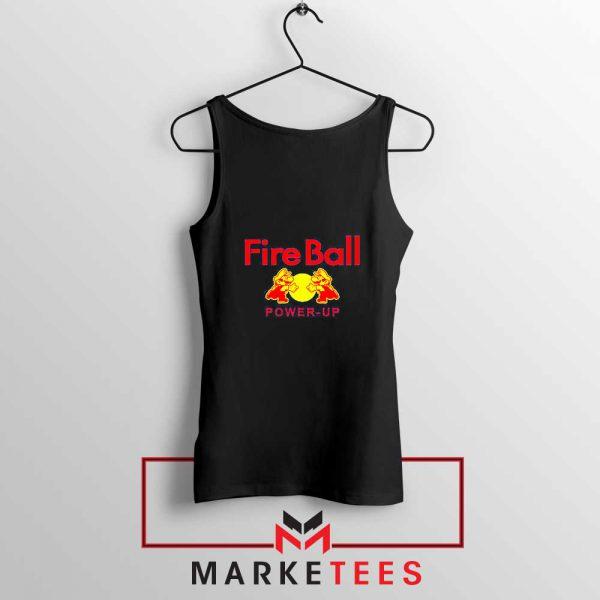 Mario Fire Ball Power Up Black Tank Top