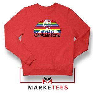 Captain Toad Retrogaming Red Sweatshirt