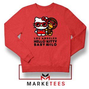 Kitty Milo Los Angeles Design Red Sweatshirt